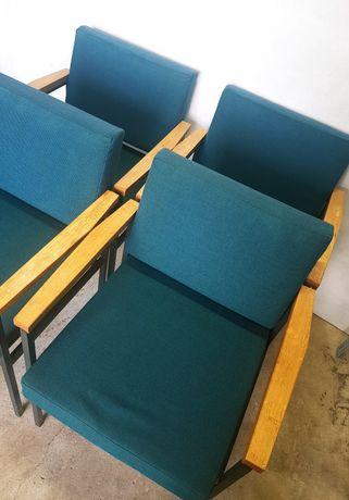 Wyjątkowe Rzadkie Fotele 4szt FROSCHER Vintage Bardzo Ładny Stan