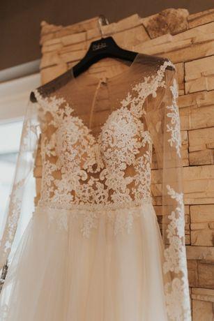 Suknia Ślubna 34 36 38 ivory koronka