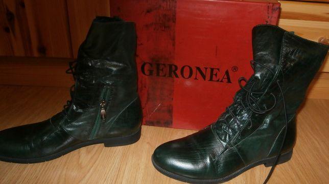 Ботинки женские Geronea, размер 39, темно-зеленые