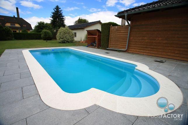 Basen ogrodowy kąpielowy Zestaw 5x3 gotowy poliestrowy PRODUCENT