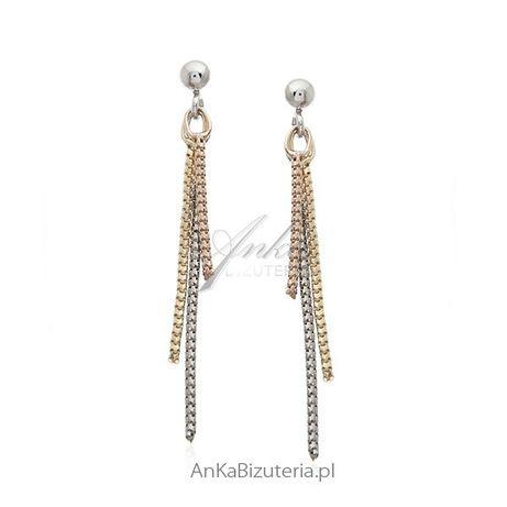 ankabizuteria.pl apart różaniec srebrny Kolczyki srebrne wiszące łańcu