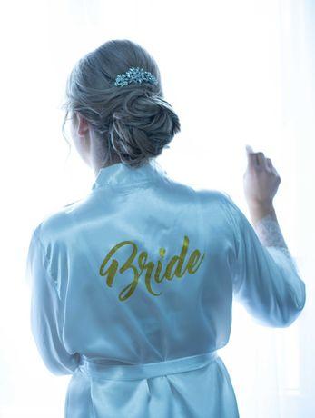 Szlafrok Panna Młoda (Bride) L/XL