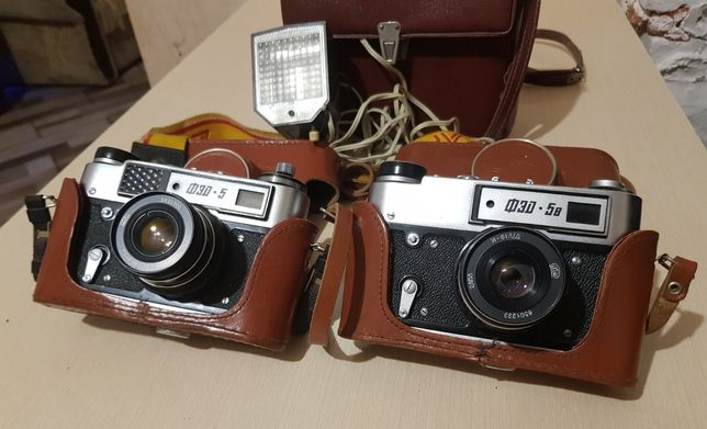 Фотоаппарат ФЭД 5, ФЭД 5в и фотовспышка Чайка