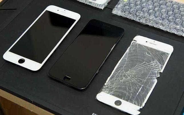 Заменить стекло дисплея iPhone 6 7 Plus 8 xr 11 x переклейка xs экра