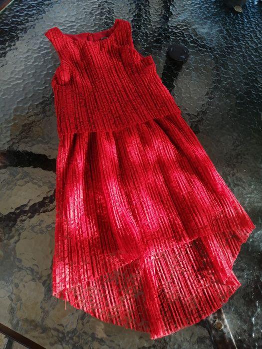 Czerwona koronkowa sukienka 122cm Czernichów - image 1