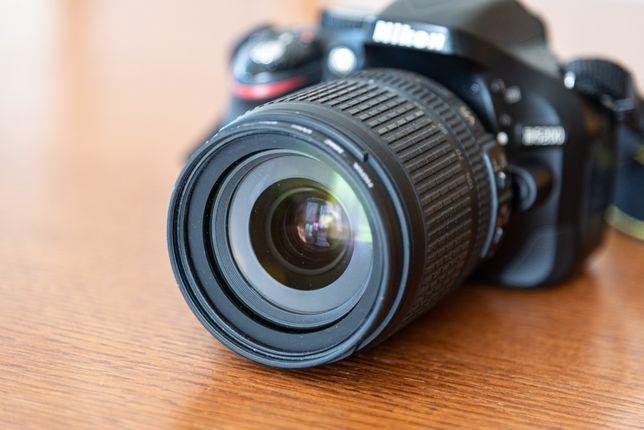 Aparat Nikon d5200 + obiektyw 18-105 + filtr + torba