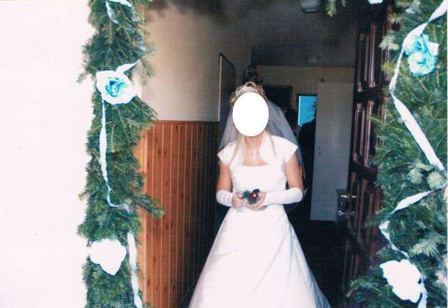 Suknia ślubna ecru + welon gratis