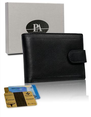 Ekskluzywny skórzany portfel meski. Prezent.