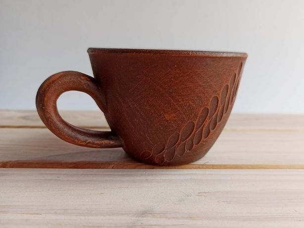 Глиняная кофейная чашка для эспрессо.
