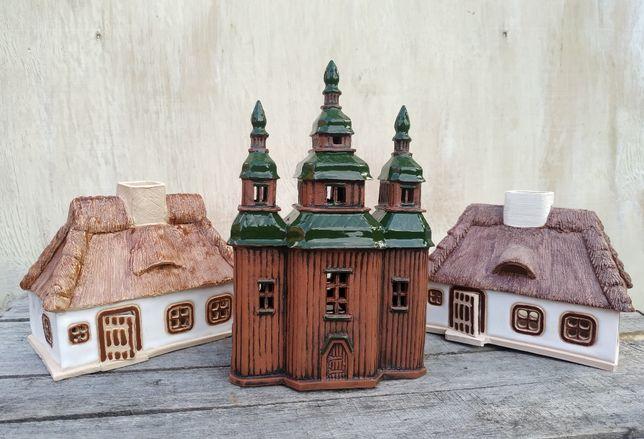 """Керамический подсвечник """"Церковь в Пирогово"""" Ручная работа"""