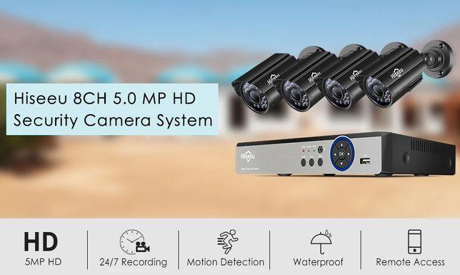 Kit Vídeo Vigilância por CABO Profissional 4 Cameras 5MP IP67