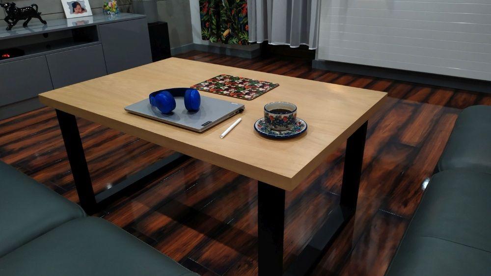 Stolik kawowy DĘBOWY w stylu LOFT INDUSTRIAL 110 x 70cm ława Czerwionka-Leszczyny - image 1
