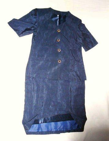 Fato casaco e saia azul