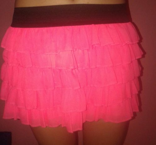 Летняя розовая юбка