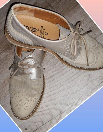 Кожаные туфли лоферы-оксфорды от CHOIZZ Германия 37р. 24см