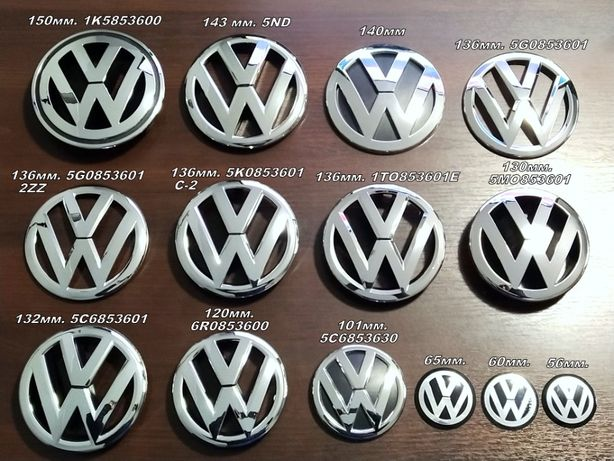 Эмблема решетки радиатора/багажника Volkswagen Passat/Polo/Golf/CC/VW