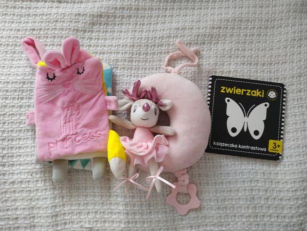 Książeczka sensoryczna, pozytywka, książeczka kontrastowa, zabawki