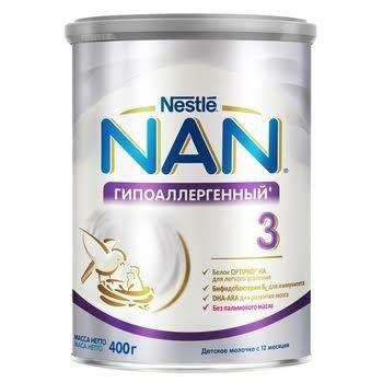 Смесь гипоаллергенная NAN  1, 2, 3    400г