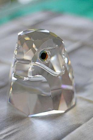 """Swarovski """"Cabeça de Falcão grande"""" peça de coleccionador"""