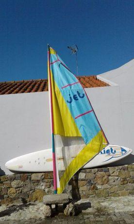 Windsurf + vela - item p/decoração optimo estado
