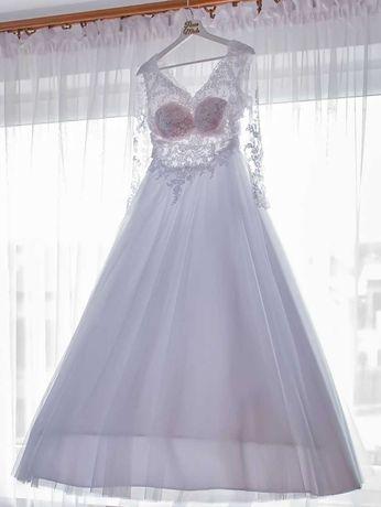 Suknia ślubna, na ślub, rozmiar 34/36 welon gratis