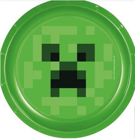 Talerz plastikowy Minecraft.