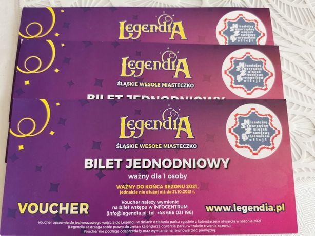 Sprzedam 3 szt. bilety do legendii legendia