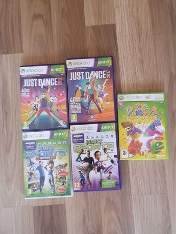 gry, just dance, kinect sports, xbox 360