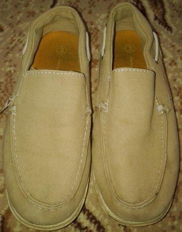 Туфли мокасины 33 размер ткань