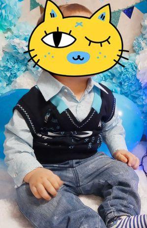 Рубашка на малыша до полутора лет