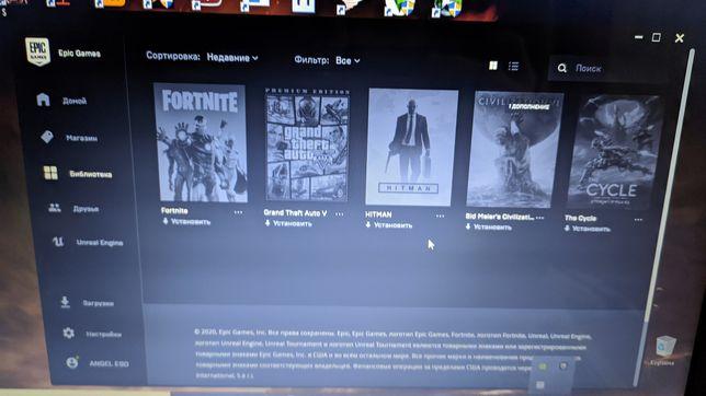 СРОЧНО!! BEST Аккаунт в Epic Games: GTA 5 Premium, Hitman