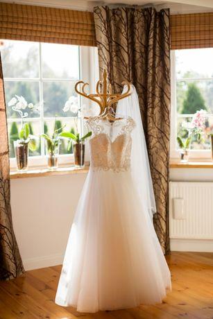Suknia ślubna tiul koronka