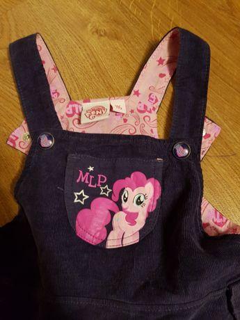 Sukienka r 116 my little pony cool club granatowa sztruksowa
