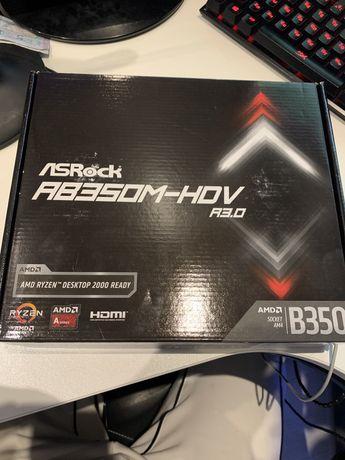 Материнская плата ASRock AB350M-HDV R3.0 Socket AM4