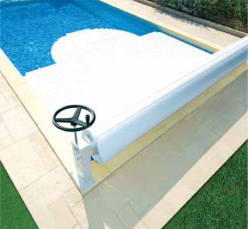Cobertura de segurança de piscina modelo eléctrico 6mx4m