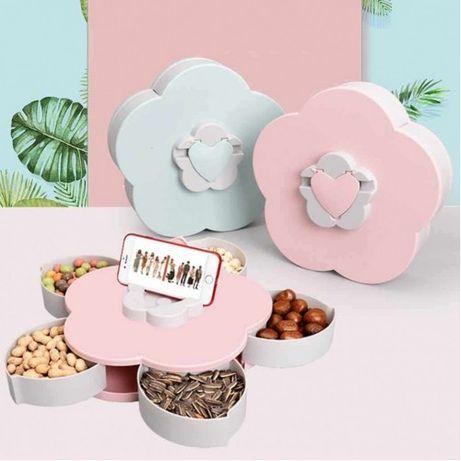 Обертальна складна цукерниця SUNROZ Flower Candy Box для цукерок та фр