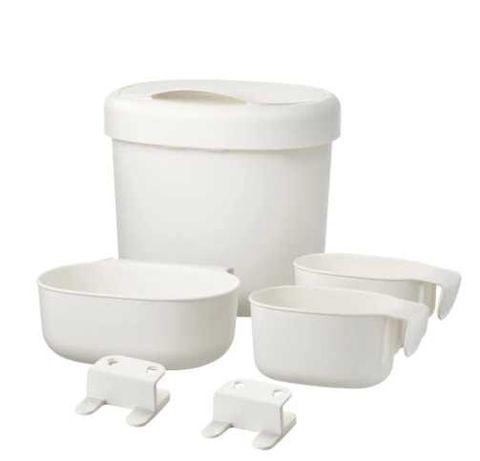 Cestos arrum p/trocador conj 4, branco - ÖNSKLIG