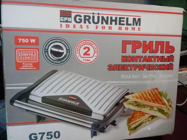 гриль контактный grunhelm g750