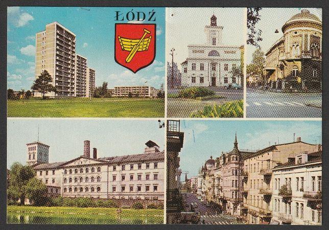 pocztówka - Łódź 1977 - mozaika