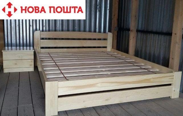 180х200. Кровать Эко цельная сосна.Двухспальная-деревянная