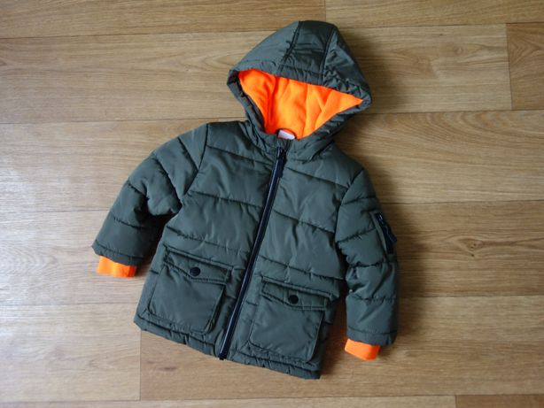 Теплая демисезонная куртка, евро зима F&F 1-1,5 года (80-86 см)