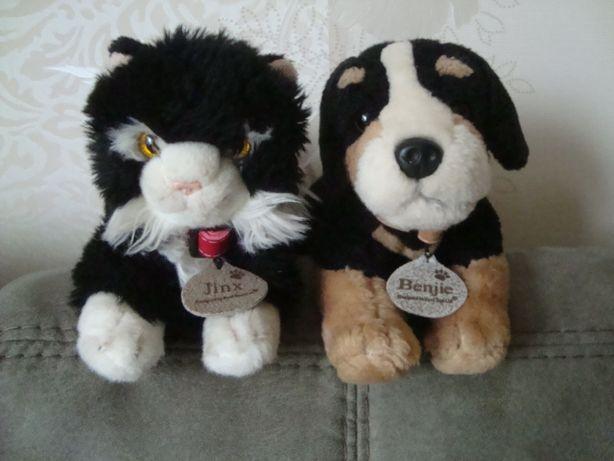 мягкие игрушки собака кот Keel Toys
