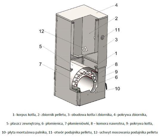 Kocioł 15kW na pellet 5klasa Ekodesign - 6lat gwarancji