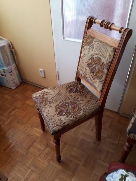 krzesła tapicerowane stylizowane 4 szt.