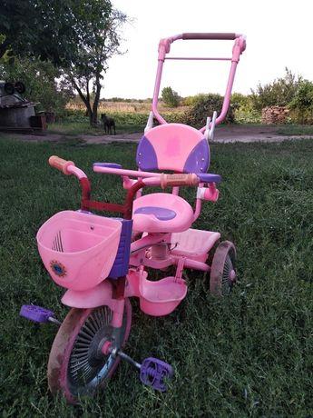 велосипед трёхколёсный с родительской ручкой