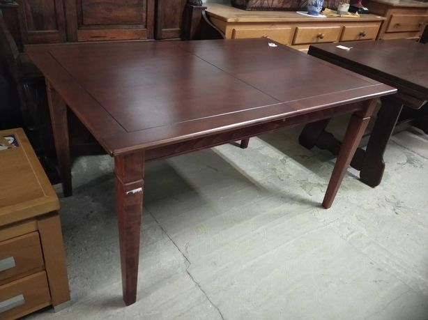Stół rozkładany ciemny Duży drewniany PO RENOWACJI drewno DOWÓZ