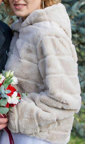 Курточка из искусственного меха, меховая куртка terranova, zara, шуба