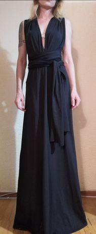 Длинное вечернее платье с открытой спиной