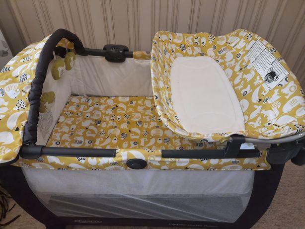 Детская кровать манеж пеленальный столик 3 в 1
