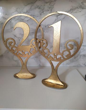 Numery na stoły 1-8